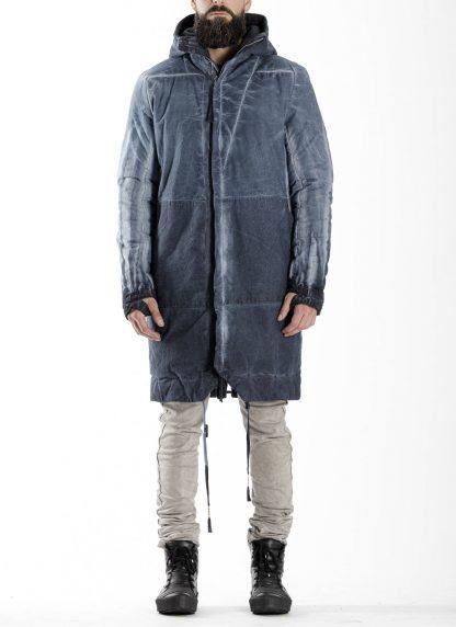 BORIS BIDJAN SABERI BBS men PADDED COAT PADDEDCOAT2 reversible herren mantel jacke F1506FW cotton synth blue hide m 11