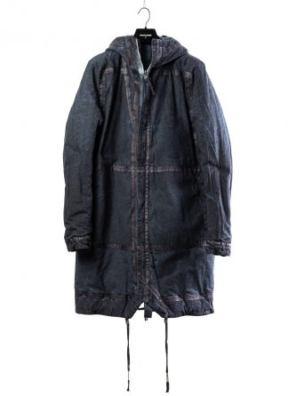 BORIS BIDJAN SABERI BBS men PADDED COAT PADDEDCOAT2 reversible herren mantel jacke F1506FW cotton synth blue hide m 2