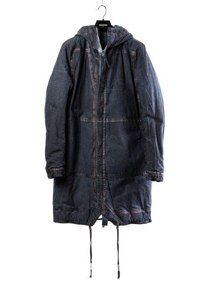 BORIS BIDJAN SABERI BBS men PADDED COAT PADDEDCOAT2 reversible herren mantel jacke F1506FW cotton synth blue hide m 2