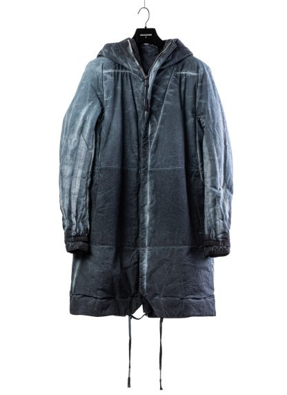 BORIS BIDJAN SABERI BBS men PADDED COAT PADDEDCOAT2 reversible herren mantel jacke F1506FW cotton synth blue hide m 3