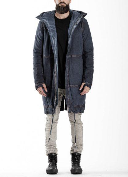 BORIS BIDJAN SABERI BBS men PADDED COAT PADDEDCOAT2 reversible herren mantel jacke F1506FW cotton synth blue hide m 4