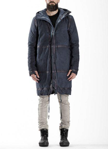 BORIS BIDJAN SABERI BBS men PADDED COAT PADDEDCOAT2 reversible herren mantel jacke F1506FW cotton synth blue hide m 5