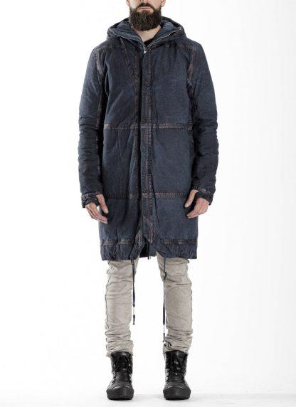 BORIS BIDJAN SABERI BBS men PADDED COAT PADDEDCOAT2 reversible herren mantel jacke F1506FW cotton synth blue hide m 6