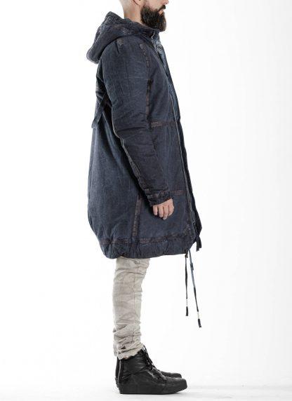 BORIS BIDJAN SABERI BBS men PADDED COAT PADDEDCOAT2 reversible herren mantel jacke F1506FW cotton synth blue hide m 7