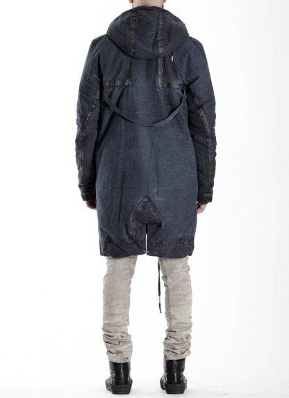 BORIS BIDJAN SABERI BBS men PADDED COAT PADDEDCOAT2 reversible herren mantel jacke F1506FW cotton synth blue hide m 8