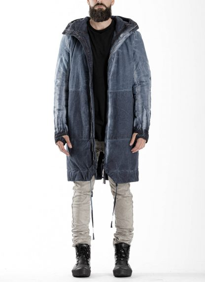 BORIS BIDJAN SABERI BBS men PADDED COAT PADDEDCOAT2 reversible herren mantel jacke F1506FW cotton synth blue hide m 9