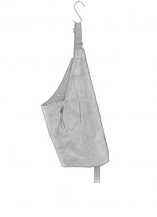 BORIS BIDJAN SABERI BBS men VEST BAG 1.1 cotton F1944 Vinyl Coated Nicekl Pressed 2 Tons black hide m 1