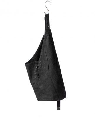 BORIS BIDJAN SABERI BBS men VEST BAG 1.1 cotton F1944 Vinyl Coated Nicekl Pressed 2 Tons black hide m 2