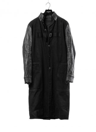 BORIS BIDJAN SABERI BBS men WORK COAT WORKCOAT1 herren mantel F1508K FMM20020 cotton horse leather black hide m 2