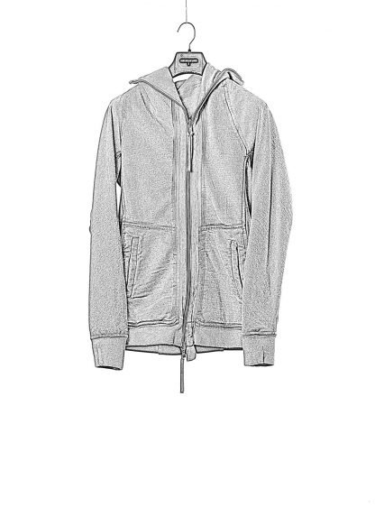 BORIS BIDJAN SABERI BBS men ZIPPER2 jacket reversible hoody hodie herren jacke FMV00014 cotton dark grey hide m 1