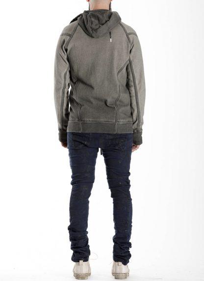 BORIS BIDJAN SABERI BBS men ZIPPER2 jacket reversible hoody hodie herren jacke FMV00014 cotton dark grey hide m 11