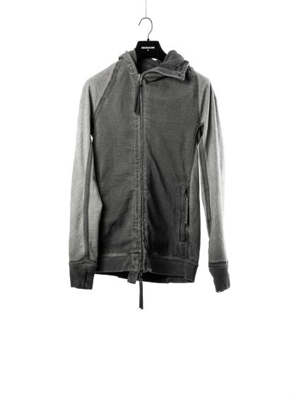 BORIS BIDJAN SABERI BBS men ZIPPER2 jacket reversible hoody hodie herren jacke FMV00014 cotton dark grey hide m 3