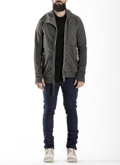 BORIS BIDJAN SABERI BBS men ZIPPER2 jacket reversible hoody hodie herren jacke FMV00014 cotton dark grey hide m 4
