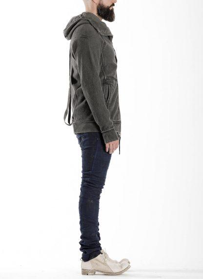 BORIS BIDJAN SABERI BBS men ZIPPER2 jacket reversible hoody hodie herren jacke FMV00014 cotton dark grey hide m 6