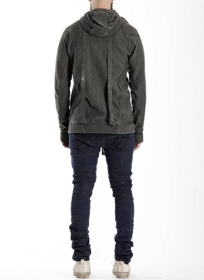 BORIS BIDJAN SABERI BBS men ZIPPER2 jacket reversible hoody hodie herren jacke FMV00014 cotton dark grey hide m 7