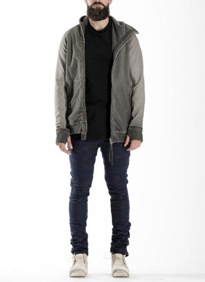 BORIS BIDJAN SABERI BBS men ZIPPER2 jacket reversible hoody hodie herren jacke FMV00014 cotton dark grey hide m 8