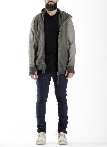 BORIS BIDJAN SABERI BBS men ZIPPER2 jacket reversible hoody hodie herren jacke FMV00014 cotton dark grey hide m 8