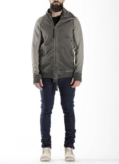 BORIS BIDJAN SABERI BBS men ZIPPER2 jacket reversible hoody hodie herren jacke FMV00014 cotton dark grey hide m 9