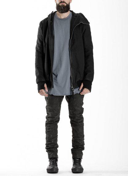 BORIS BIDJAN SABERI BBS men ZIPPER22.1 jacket herren jacke FIF10002 cotton elastan black hide m 3