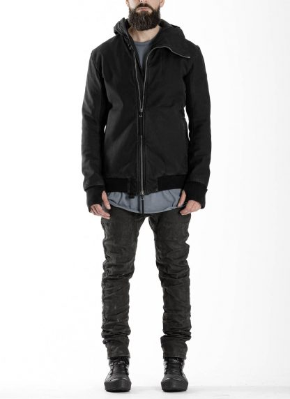 BORIS BIDJAN SABERI BBS men ZIPPER22.1 jacket herren jacke FIF10002 cotton elastan black hide m 4