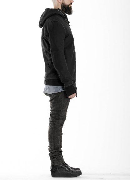 BORIS BIDJAN SABERI BBS men ZIPPER22.1 jacket herren jacke FIF10002 cotton elastan black hide m 5