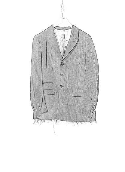 DUELLUM DUE 20AW 003 JAK men blazer jacket herren jacke wool linen black hide m 1