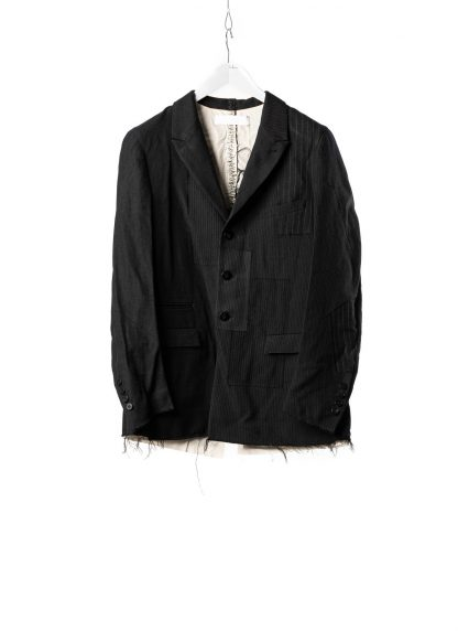 DUELLUM DUE 20AW 003 JAK men blazer jacket herren jacke wool linen black hide m 2