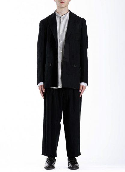 DUELLUM DUE 20AW 003 JAK men blazer jacket herren jacke wool linen black hide m 3
