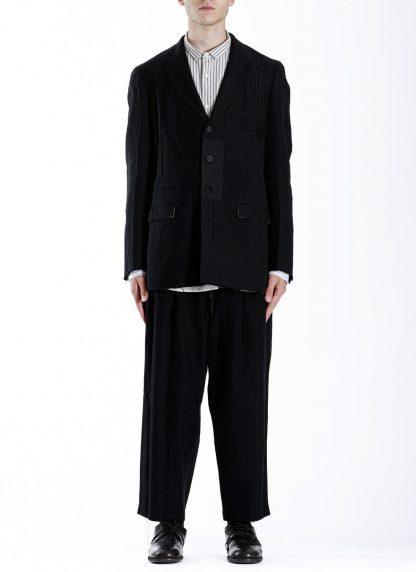 DUELLUM DUE 20AW 003 JAK men blazer jacket herren jacke wool linen black hide m 4