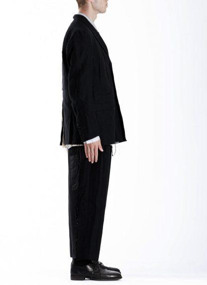 DUELLUM DUE 20AW 003 JAK men blazer jacket herren jacke wool linen black hide m 6