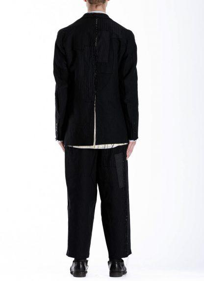 DUELLUM DUE 20AW 003 JAK men blazer jacket herren jacke wool linen black hide m 7