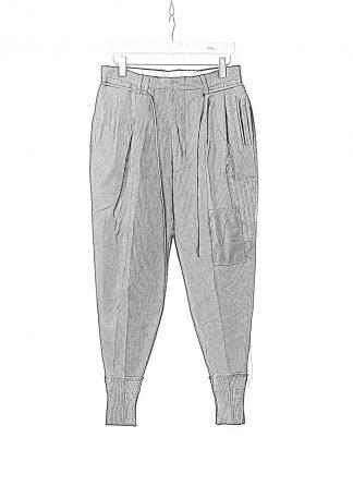 DUELLUM DUE 20AW 004 TRS men pants trousers herren hose wool linen black hide m 1