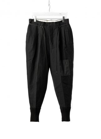 DUELLUM DUE 20AW 004 TRS men pants trousers herren hose wool linen black hide m 2