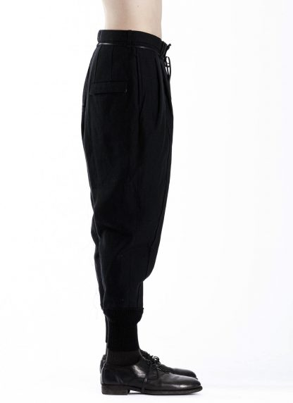 DUELLUM DUE 20AW 004 TRS men pants trousers herren hose wool linen black hide m 4