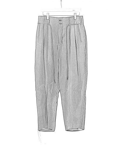 DUELLUM DUE 20AW 005 TRS men pants trousers herren hose wool linen black hide m 1