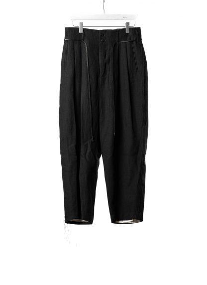 DUELLUM DUE 20AW 005 TRS men pants trousers herren hose wool linen black hide m 2