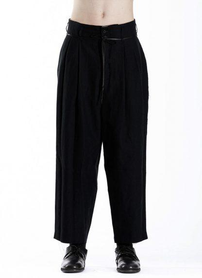 DUELLUM DUE 20AW 005 TRS men pants trousers herren hose wool linen black hide m 3