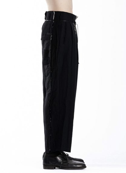 DUELLUM DUE 20AW 005 TRS men pants trousers herren hose wool linen black hide m 4