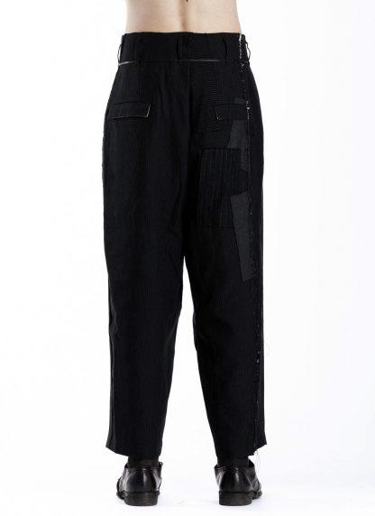 DUELLUM DUE 20AW 005 TRS men pants trousers herren hose wool linen black hide m 5