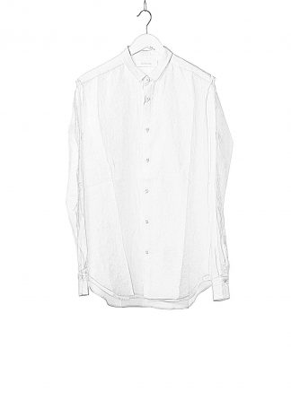 DUELLUM DUE 20AW 007 SHT men shirt herren hemd linen cotton white hide m 1