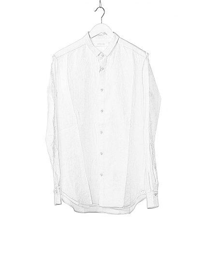 DUELLUM DUE 20AW 007 SHT men shirt herren hemd linen cotton white hide m 1