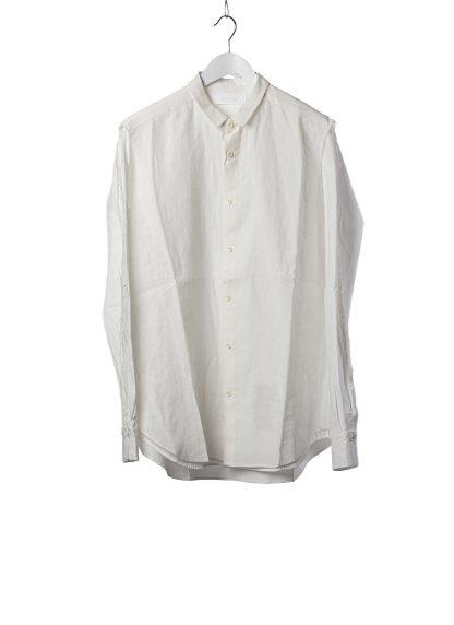 DUELLUM DUE 20AW 007 SHT men shirt herren hemd linen cotton white hide m 2