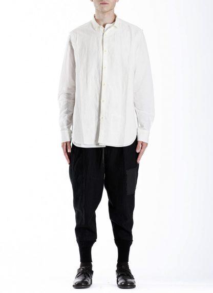 DUELLUM DUE 20AW 007 SHT men shirt herren hemd linen cotton white hide m 3