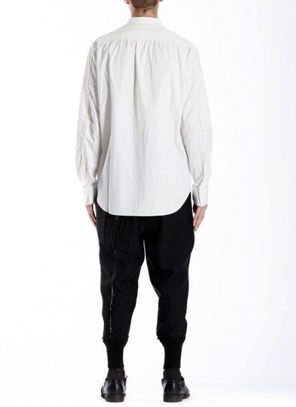 DUELLUM DUE 20AW 007 SHT men shirt herren hemd linen cotton white hide m 5