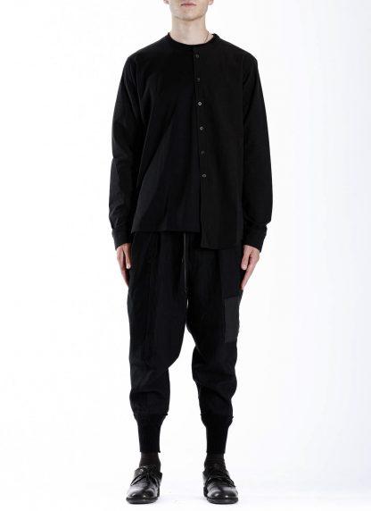 DUELLUM DUE 20AW 009 SHT men shirt long sleeve tee herren hemd tshirt cotton black hide m 3