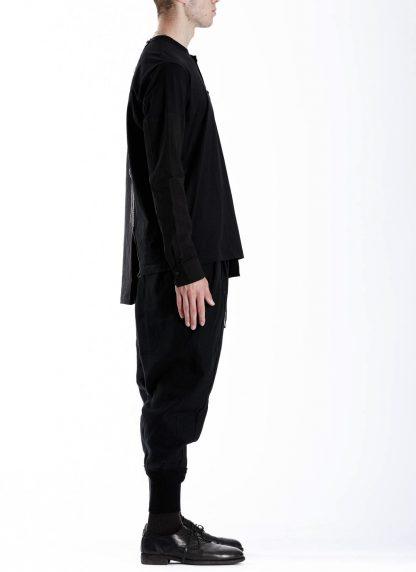 DUELLUM DUE 20AW 009 SHT men shirt long sleeve tee herren hemd tshirt cotton black hide m 4
