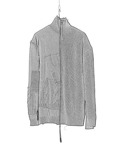 DUELLUM DUE 20AW 010 KNT men zip sweater knit herren pullover wool cotton cashmere black hide m 1