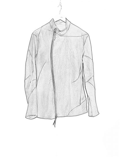 LEON EMANUEL BLANCK men distortion fencing jacket fully lined DIS M FJ 01 herren jacke soft horse leather black hide m 1
