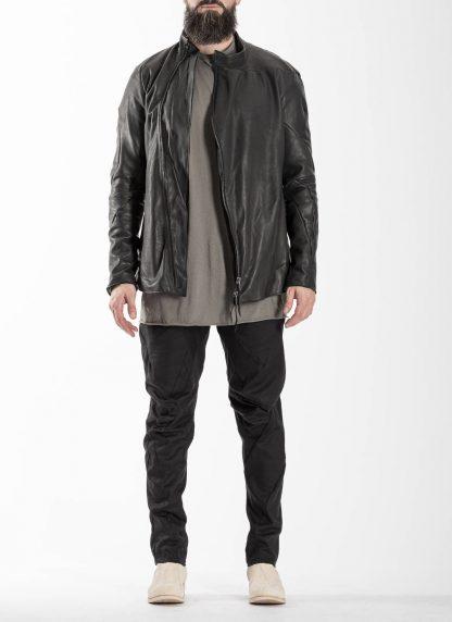 LEON EMANUEL BLANCK men distortion fencing jacket fully lined DIS M FJ 01 herren jacke soft horse leather black hide m 3
