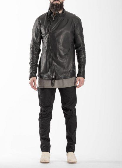 LEON EMANUEL BLANCK men distortion fencing jacket fully lined DIS M FJ 01 herren jacke soft horse leather black hide m 4